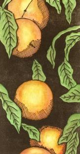 Late Alberta peaches-Hand colored