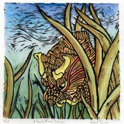 Small Fierce Dragon-Hand colored